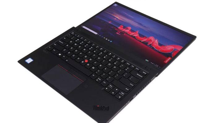 ThinkPad X1 Carbon open flat