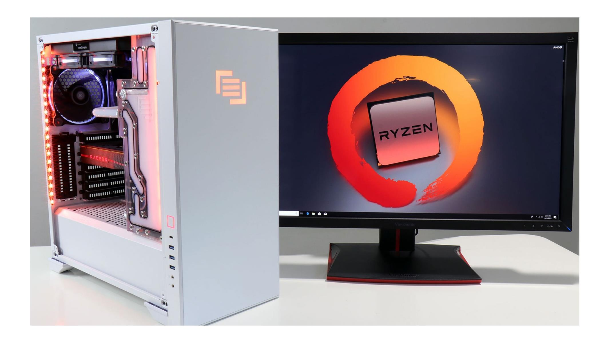 Maingear Vybe Building A Liquid Cooled Amd Ryzen 9 3900x Performance Desktop On Location Hothardware