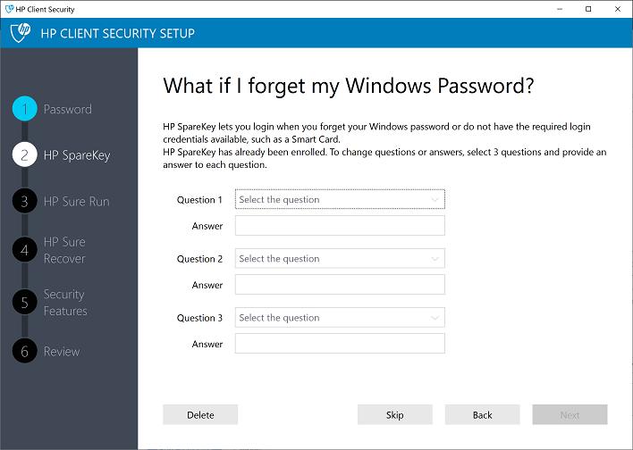 hp client security setup zbook 14u g6