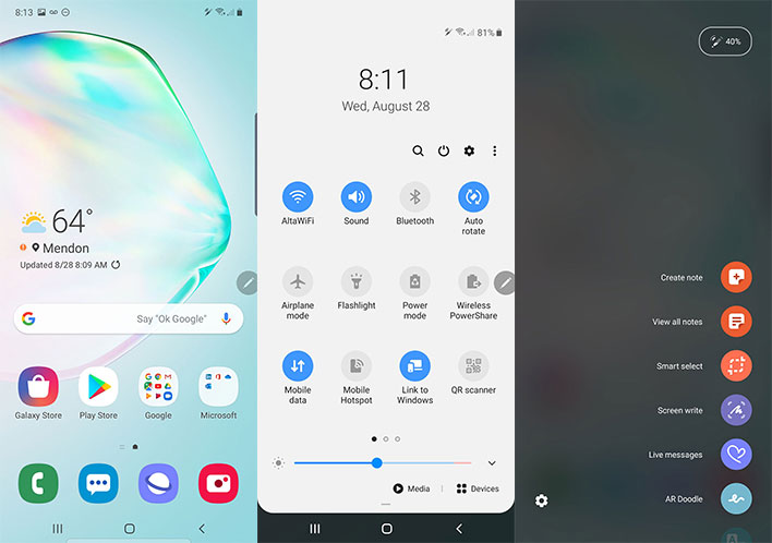 galaxy note 10 plus home screen one ui
