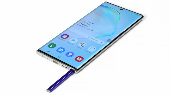 galaxy note 10 plus with pen holstered