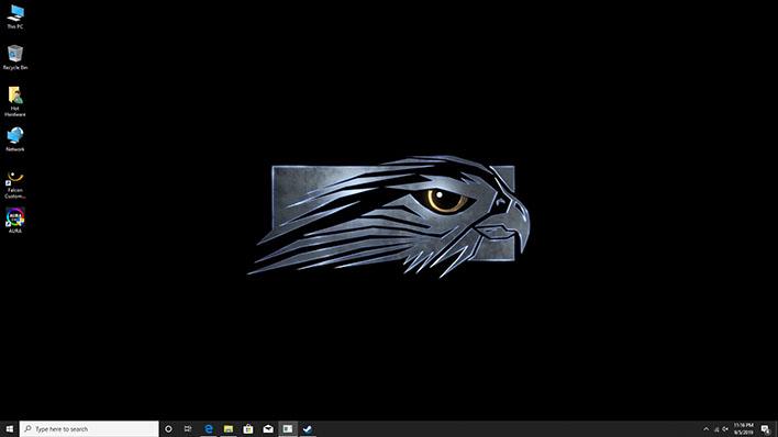 falcon northwest talon home screen
