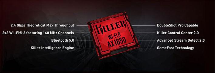 Killer Wi-Fi 6 AX1650 Specs