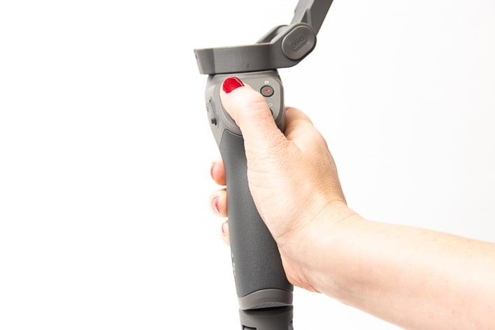 dji osmo mobile 3 hand on thumbstick