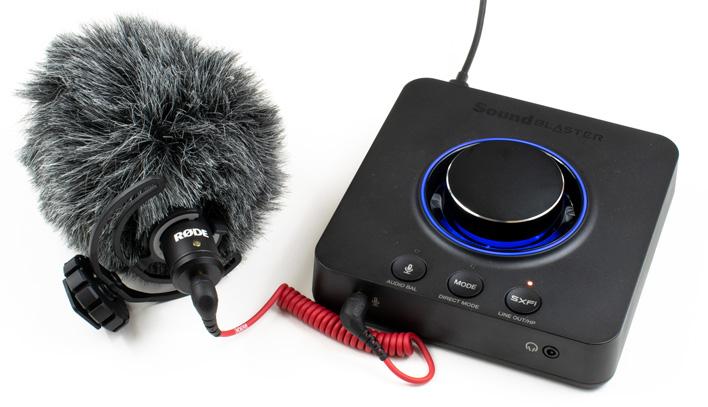 rode videomicro sound blaster x3
