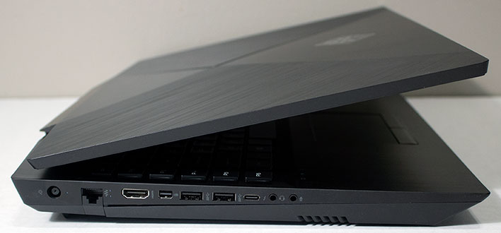HP Omen 17 Ports Left Side