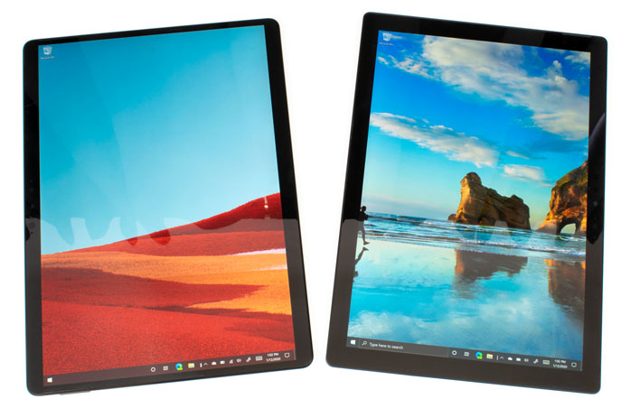 tablets side by side surface pro x surface pro 7