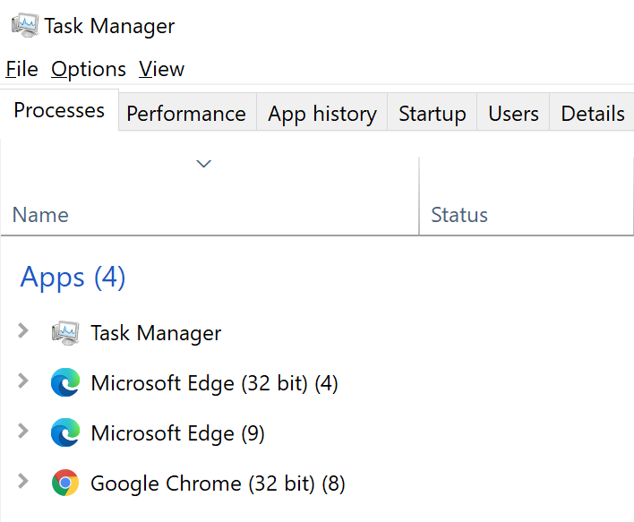 task manager surface pro x