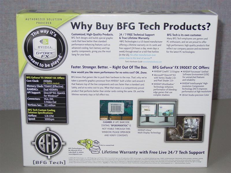 BFG's GeForce FX 5900XT OC