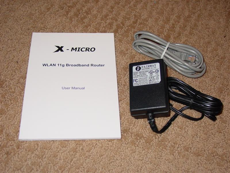X-Micro WLAN 11g Turbo Mode Broadband Router and PCMCIA card