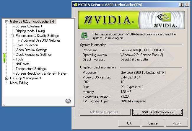 NVIDIA GeForce 6200 with TurboCache