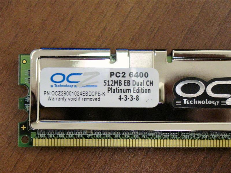OCZ DDR2 PC2-6400 Platinum EB