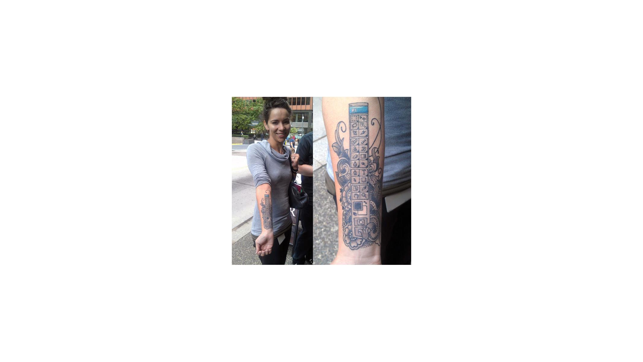 Forget Dragons Here S The Girl With The Photoshop Tattoo Hothardware