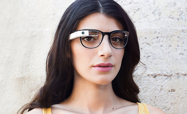 google glass woman