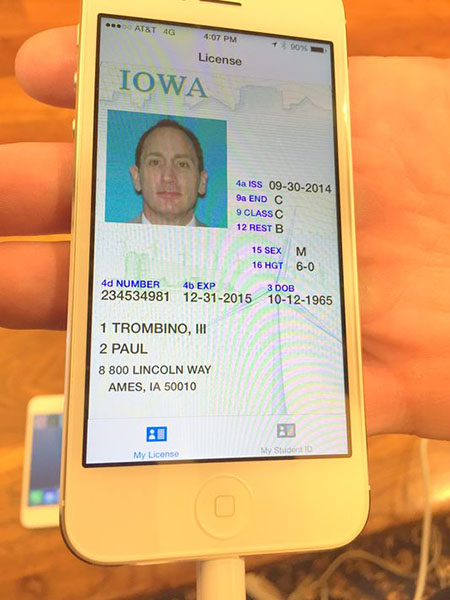 Iowa Digital Drivers License