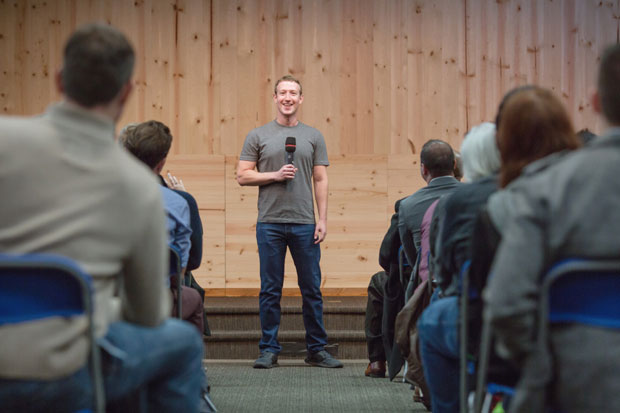 "Facebook founder Mark Zuckerberg dislikes the idea of a ""dislike"" button."
