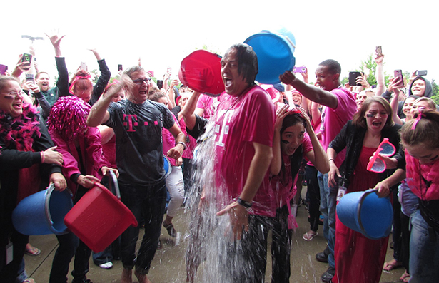 Legere Ice Bucket Challenge During T Mobile Throws In The Towel, Agrees To $90M 'Cramming' Settlement With FTC