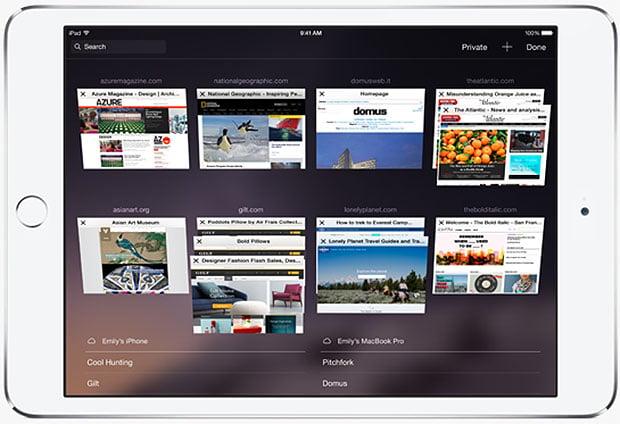 iPad with iOS 8