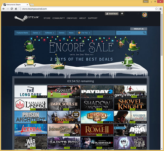 Steam Encore Sale
