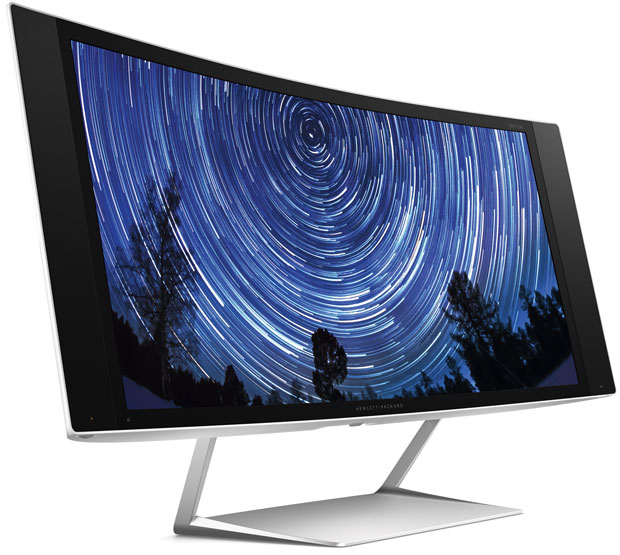 Although curved displays are typically hard to mount, HP often offers adapters that can help make the monitor VESA-compabitible.