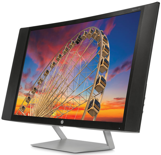 HP's new curved displays are meant to provide a better experience.