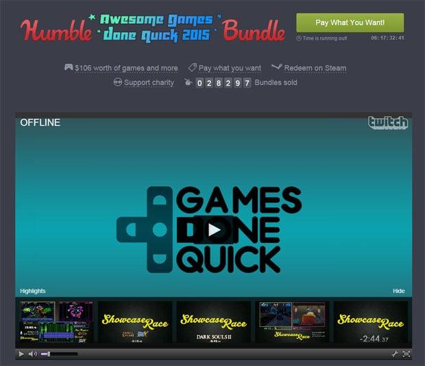 Humble Bundle Games Done Quick