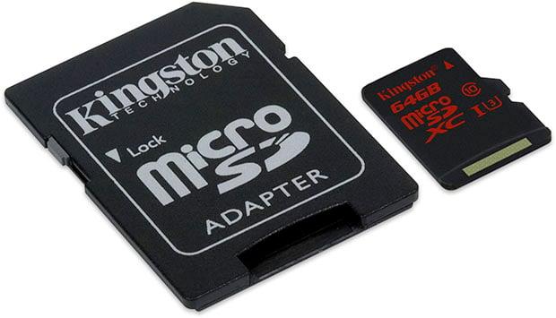 Kingston microSD 64GB UHS I U3