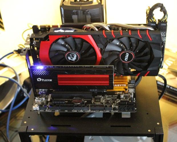 Plextor showed off its M6e Black Edition PCIe SSD