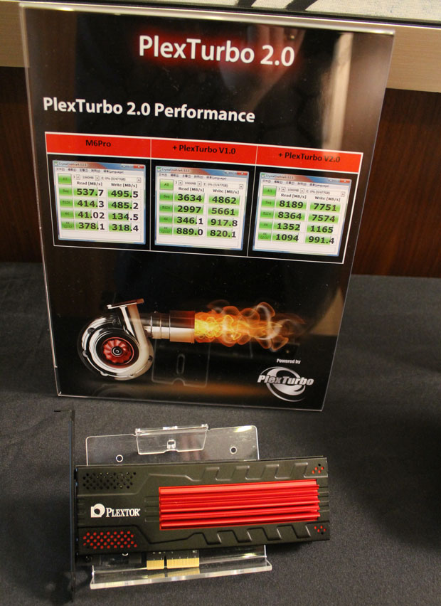PlexTurbo 2.0 software improves the performance of the Plextor M6e Black Edition.