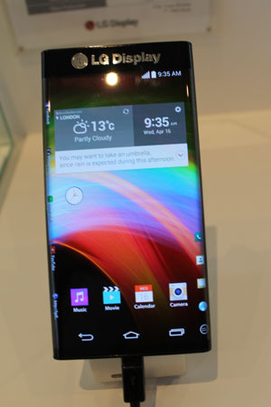 LG Display has a smartphone scree with touchable sides.