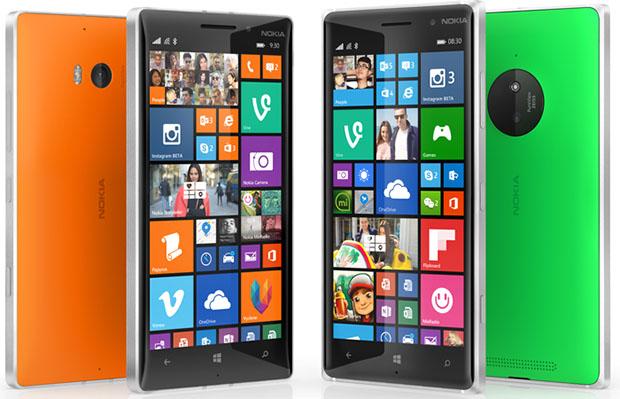 Lumia 830 and 9301