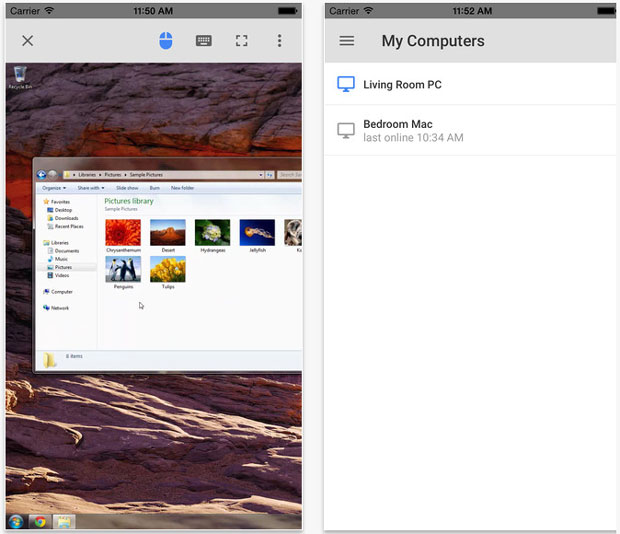 Your iPhone or iPad can be a tool for accessing your PC via Chrome Remote Desktop App