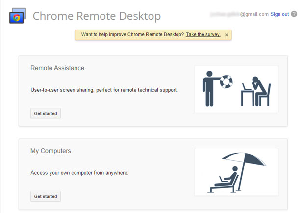 It's easy to access your computer if you have Google Chrome installed on it and have installed the Chrome Remote Desktop App