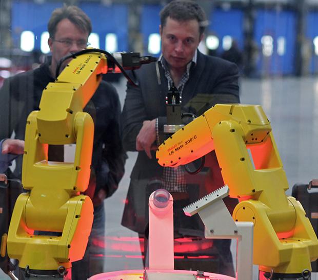 elon musk robots