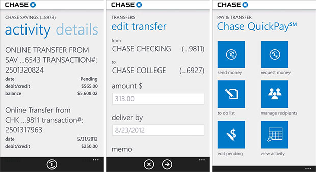 Chase Windows Phone