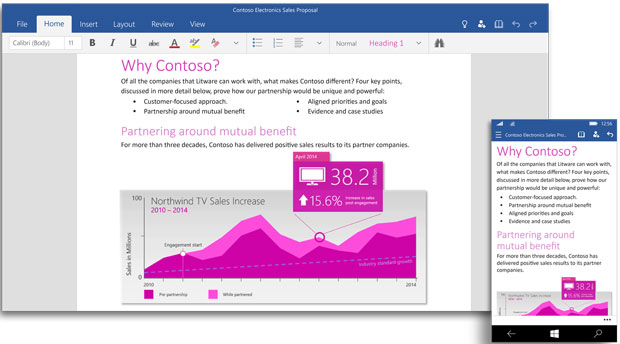 Microsoft is releasing Office 2016 and Office for Windows 10 apps