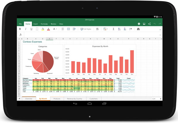 Excel for Android is meant to make the Office app touch-friendly