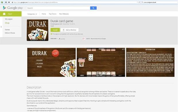 Durak Card Game Google Play