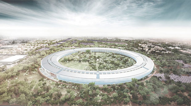 The new Apple HQ will draw its power from solar energy.