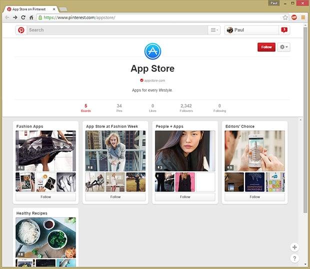 Pinterest App Store