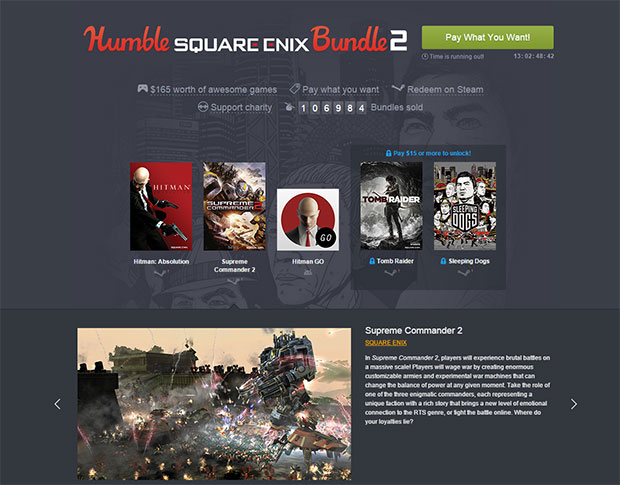 Humble Bundle Square Enix
