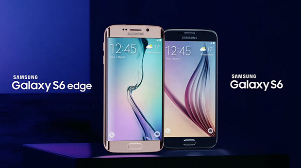 Galaxy S6 and S6 Edge side by side