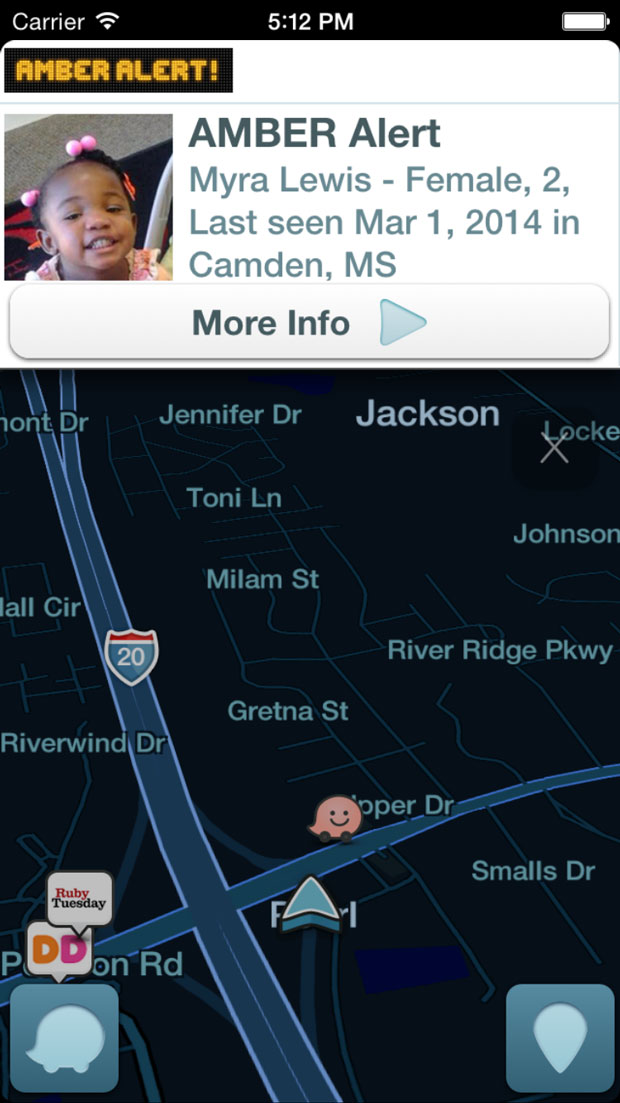 Waze is bringing AMBER Alerts to its drivers