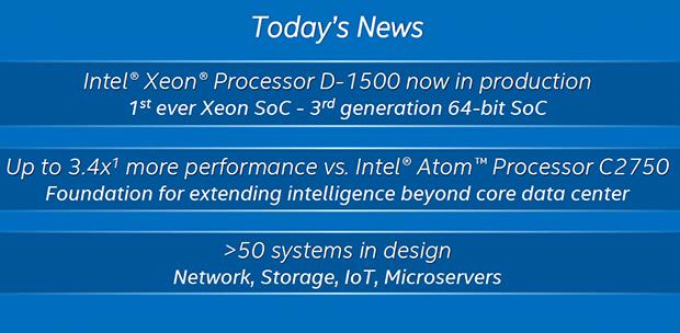 Intel Xeon D Slide