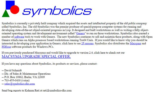 Symbolics Old Website