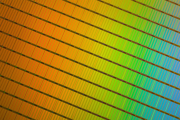 Intel Micron 3D NAND Wafer