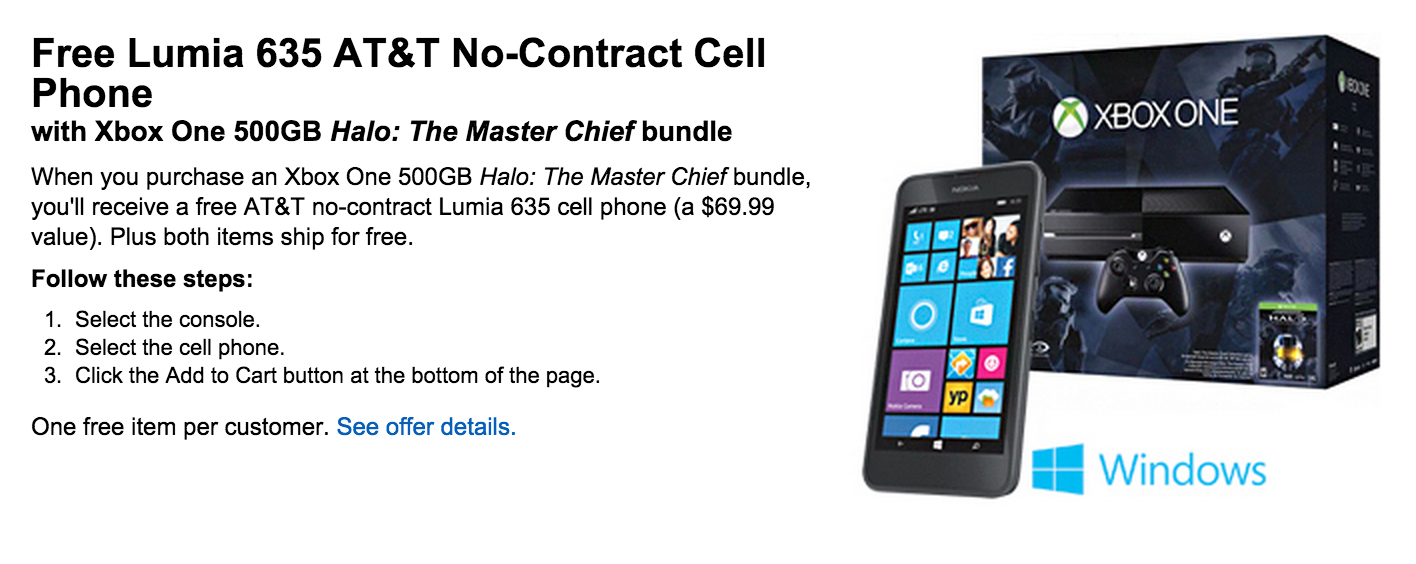 Purchase 'Xbox One Halo: The Master Chief' Bundle At Best Buy And Receive Free Lumia 635