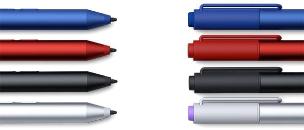 Pen v4 004 silver black red blue