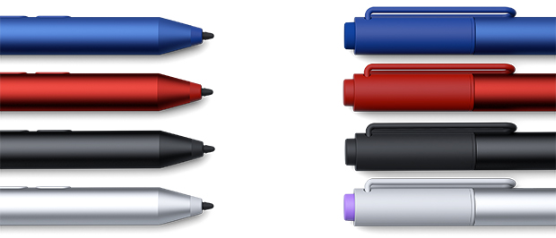 Pen v4 004 silver black red blue