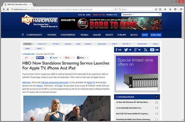 Firefox 37 HotHardware